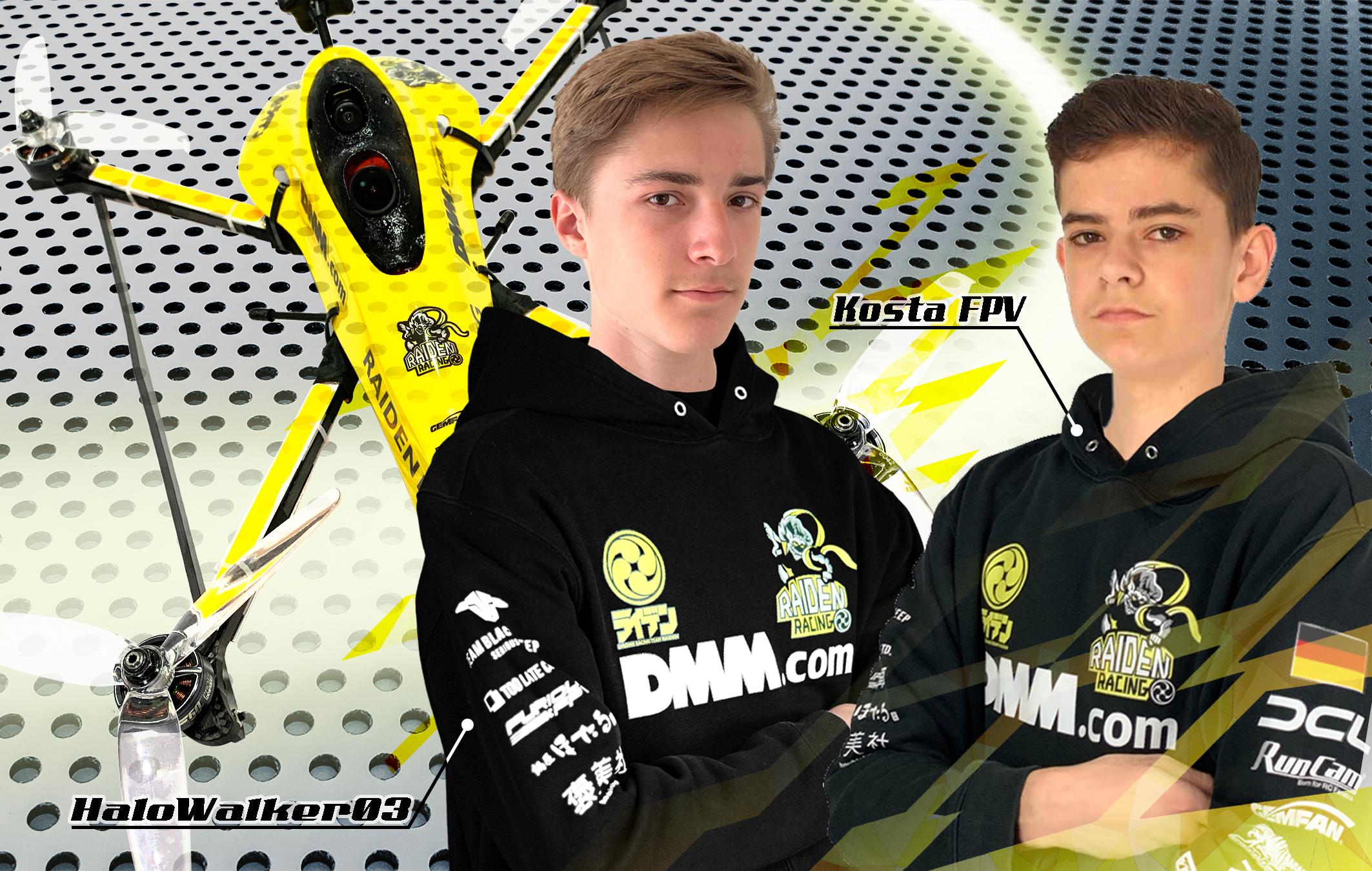 『RAIDEN RACING』にドイツ人若手ドローンレーサー2選手が新加入!